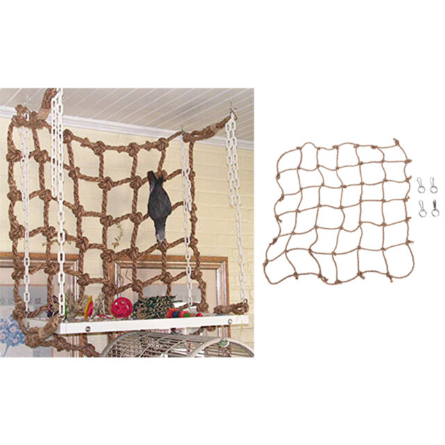Parrot Birds Climbing Net Jungle Fever Rope Small Animals Toys 0hau