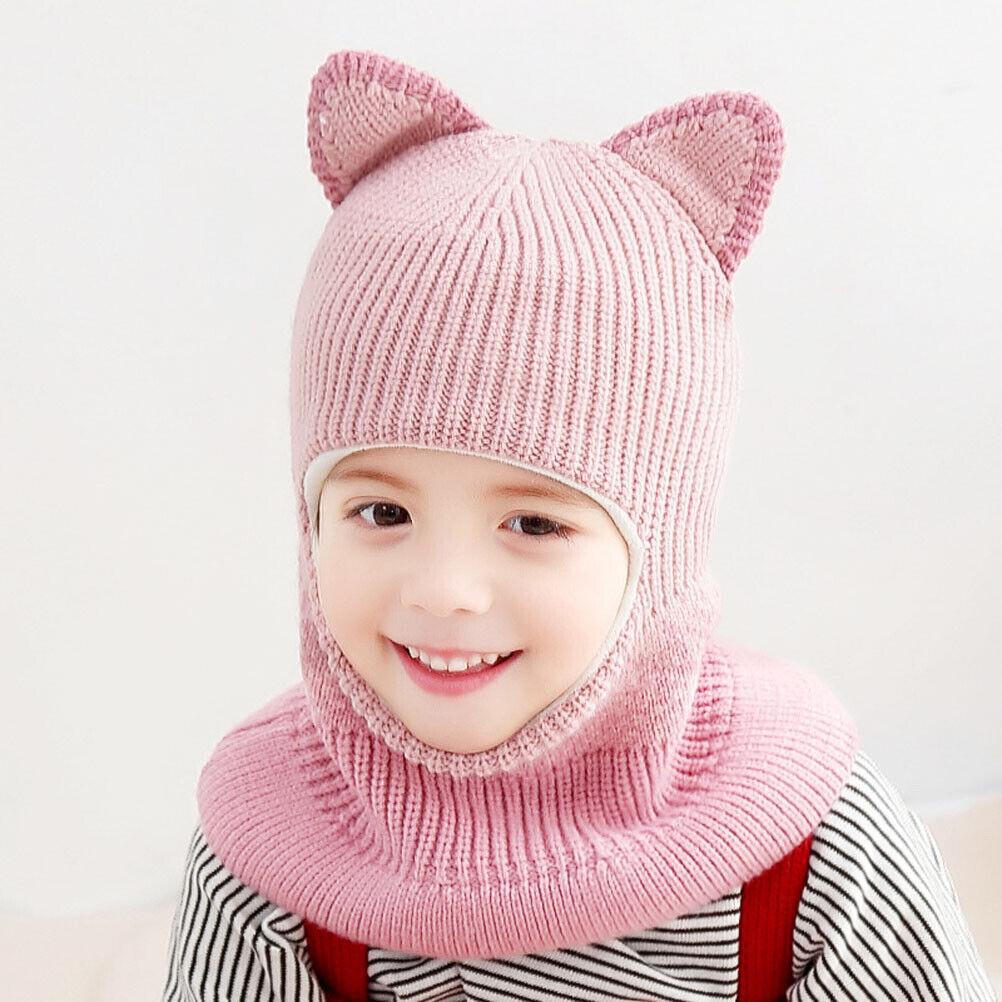 Cute Baby Toddler Winter Warm Beanie Cap Fashion Earflap Cap Ear Head Warmer Hat