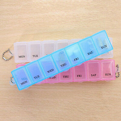 Weekly Daily Pill Box Organiser Compartment Pill Box Container 7 Days Pill  Je Pill Box-container