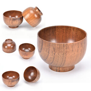 natural jujube wooden bowl,japanese style chinese bailer soup noodles wood JH
