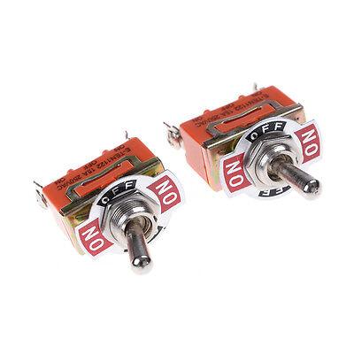 1Pcs 250V 15A ON-OFF-ON 3 Terminals Orange SPDT Locking Toggle SwitchK3S