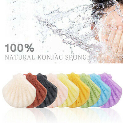 Shell Shape Konjac Sponge Cosmetic Puff Face Cleaning Sponge Natural Konjac - Pue Face