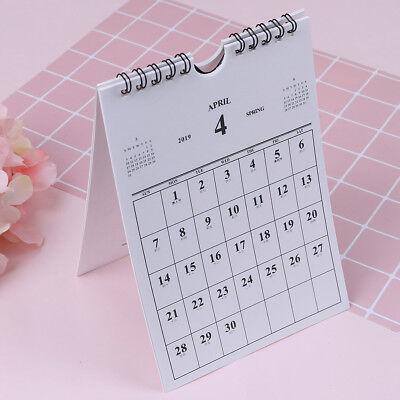Oct 2018 - Dec 2019 Desk-top Flip Calendar Month Stand Up Office Home Planneru