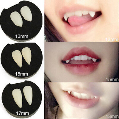 Bloodcurdling Vampire Werewolves Fangs Fake Dentures Teeth Costume Halloween SIJ - Costume Fake Teeth