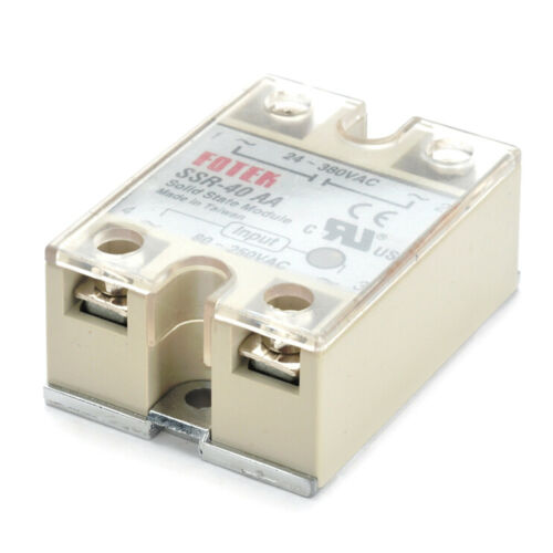 Solid State Relay SSR-40AA 40A AC Relais 80-250V TO 24-380VAC AC SSR CR