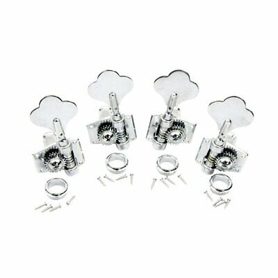 Bass Guitar Tuning Machines (Guitar Sealed Tuners Tuning Pegs Chrome Machine Heads 2R2L 4 String Bass )