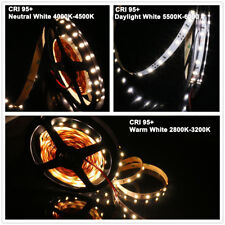 MARSWALLED High CRI95+ SMD5630 LED Strip Light Warm/Daylight White/Neutral White
