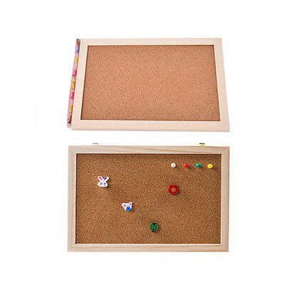 Natural Wood Frame Cork Bulletin Board Office Supplier Home Decorative FBDCCYCA