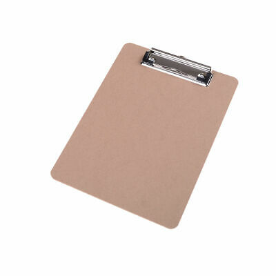 Wooden A5 File Paper Clip Wood Writing Board Metal Clip Document Clipboard