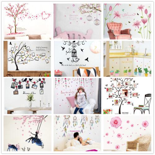 Home Decoration - Flower Grass trees House Branch Wall Decal Sticker Vinyl Art Kids Home Decor UK