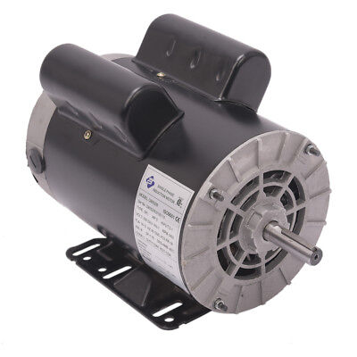 5 Hp 1phase 3450rpm Electric Air Compressor Duty Motor 56 Frame 58 Shaft 60 Hz