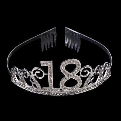 18 Jahre alt Geburtstag Krone Kristall Haarband Mädchen Tiara Princess Zube bv