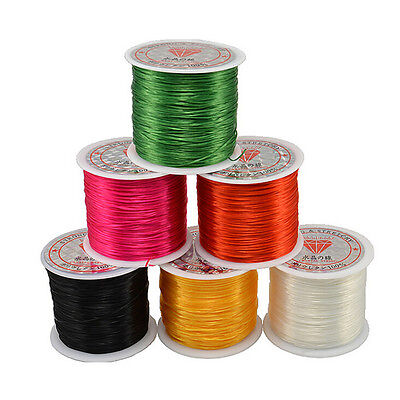 50M Strong Stretch Elastic Cord Wire Rope Bracelet Necklace String Bead 0.5mm RS - $5.11