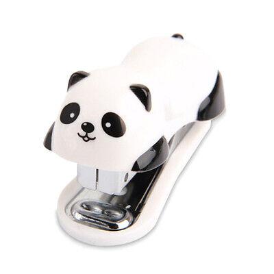 Cute Panda Office Student Small Mini School Home Stapler Staples Set Plastiid