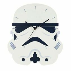 Star Wars Stormtrooper Helmet Shaped Wall Clock - Bedroom Games Room Accessories