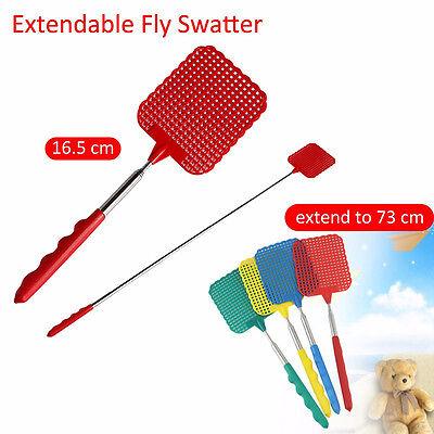 73cm Plastic Telescopic Retractable Fly Swatter Prevent Pest Mosquito Tool VvV