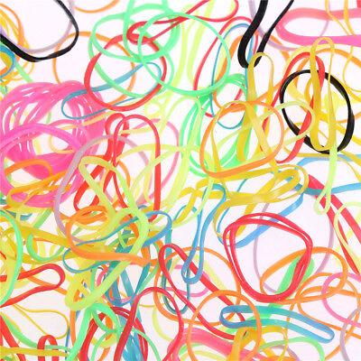 1000pcs/Bag Small Elastic Hair Bands Braids Poly Rubber Plaits Braiding Mini PL - Mini Rubber Bands
