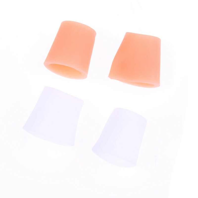 2Pcs Toe Silicone Gel Protector Sleeve Tubes Ingrown Toenail Corn Cushion Cap VV - $5.18
