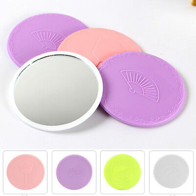 Mini Cute Mirror Lovely Portable Makeup Mirror Small Pocket Travel One Sided FD
