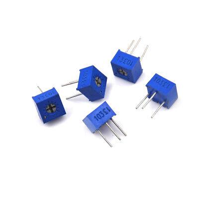 5pcsset Potentiometer6kleimmer Variable Resistor 3362p-103 10k 6kle