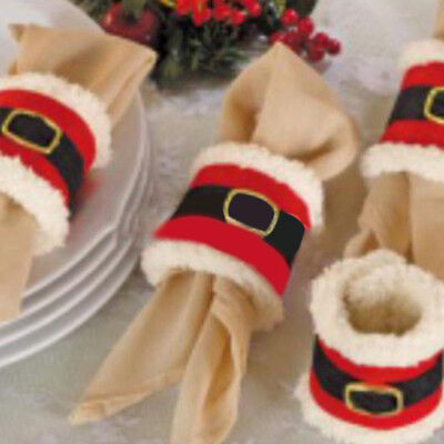 Christmas Napkin Rings Serviette Holder Wedding Banquet Dinn