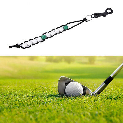 (1PC New Golf Beads green Stroke Shot Score Counter Keeper with Clip  GX)