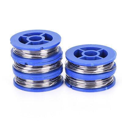 5 Rolls 6337 Tinlead Rosin Core Solder Wire 0.8mm Soldering Welding 1.7m Bluj