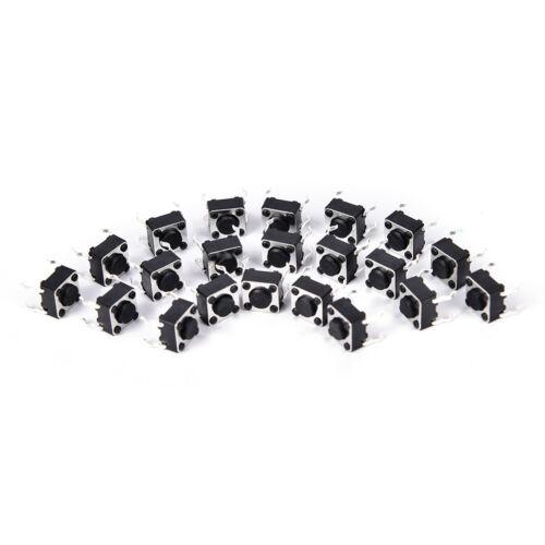 50pcs  6x6x4.3mm 4pin tactile tact push button micro switch dip feet copper HB
