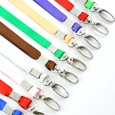 1X Neck Strap Lanyard Safety ID Badge Holder Metal Available Breakaway Phone@#