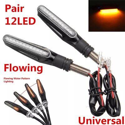4x Moto Intermitentes 12 LED Indicador Luces Señal Giro Luz Turn Signal 12V