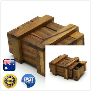 Handmade Wooden 3D Brain Teaser Puzzles- Magic Box  Puzzle Large Size On Sale