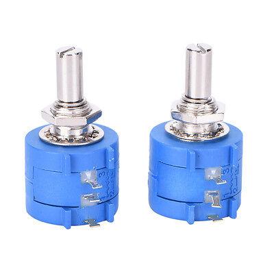 2pcs 3590s 10k 3590s-2-103l 10k Ohm 10 Turn Variable Resistor Potentiometer N G3