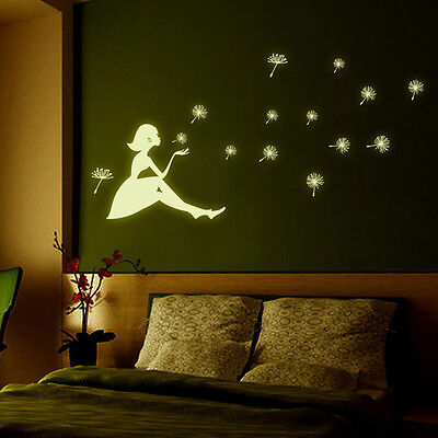 Glow in the dark Wandaufkleber DIY Kinderzimmer Dekoration Abziehbilder leu4H ZV ()
