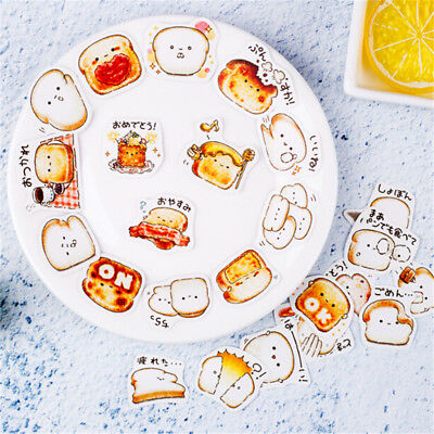 Cute Expression Bread Sticker Diy Notebook Stationery Diary Decorative Sticker~ (Diy Notebook)