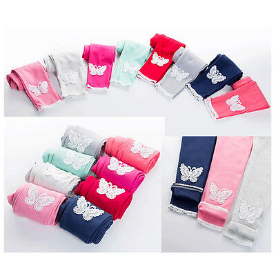 Hot Lovely Baby Kids Girls Leggings Pants Butterfly Trousers For 4-12 Years SL (Hot Girls Leggings)