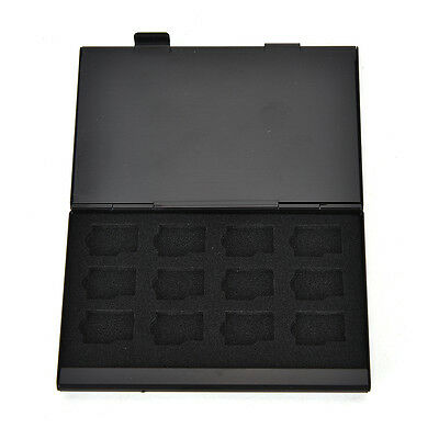 Black Aluminum Memory Card Storage Case Box Holder For 24 TF Mini SD Cards YEG Minisd Memory Card Case