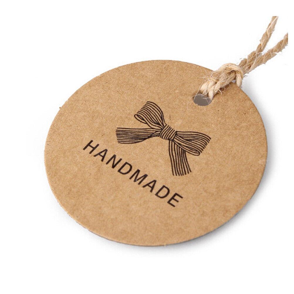DIY 100x Handgefertigte Papieranhänger Geschenk Anhänger Etiketten Tags Label