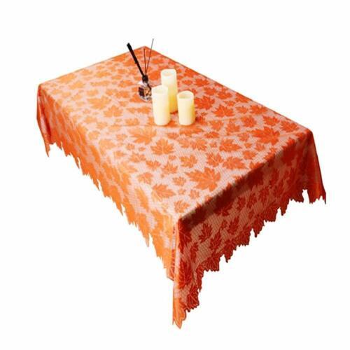Lace Decorative Banquet Maple Leaf Pattern Tablecloth Table