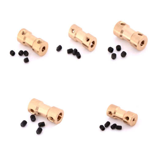 2/3/3.17/4/5mm Motor Copper Shaft Coupling Coupler Connector Sleeve AdapteYJfi