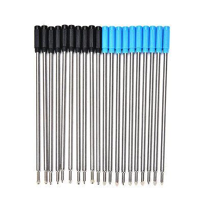 10Pcs Cross Type Kugelschreiber Minen Tinte Medium & Schwarz Blau CJ ()