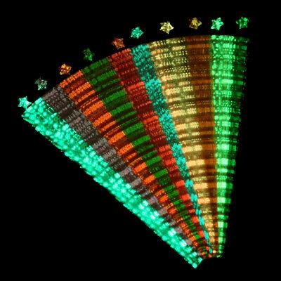 210PCS Luminous Paper Strips Origami Folding Glücksstern Bänder Handwerk Ges CBL