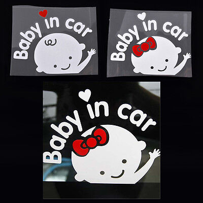 Cartoon Car Stickers Reflective Styling Baby In Car Warming Stickers Decal~OY