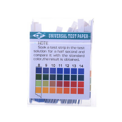 100 Strips 1-14 Ph Alkaline Acid Indicator Paper Water Saliva Litmus Test Kit Oj