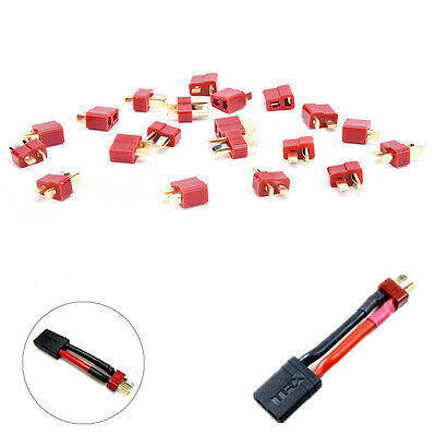 10 Pairs T Plug Male & Female Connectors Deans Style For RC LiPo Battery HU