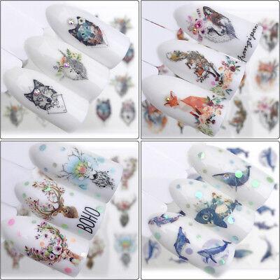 Nail sticker art decor slider fox wolf adhesive design water decal manicure Pip](Wolf Nails)