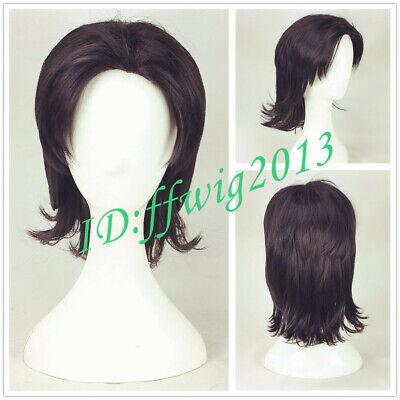 2019 new movie Aladdin Cosplay Wig Men short black brown hair wig + a wig cap](Aladdin Wig)