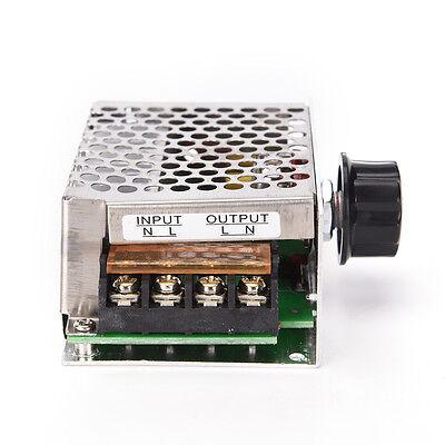 4000w 220v Ac Scr Motor Voltage Regulator Voltage Speed Controller Dimmer Wd