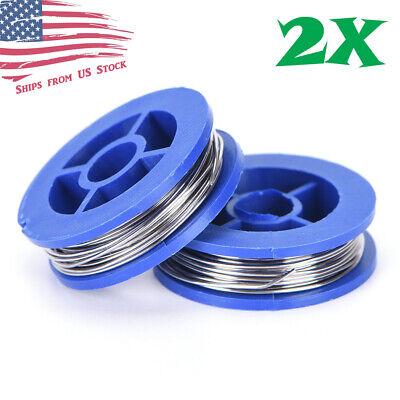 2 Rolls 6337 Tin Lead Rosin Core Solder Wire 0.8mm Soldering Welding 1.7m