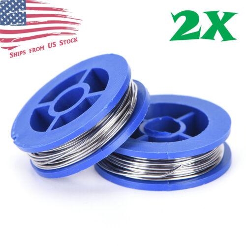 2 Rolls 63/37 Tin / Lead Rosin Core Solder Wire 0.8mm Soldering Welding 1.7M