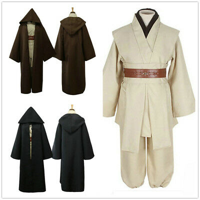 Star Wars Obi-Wan Kenobi Jedi Knight Master Cloak Halloween Adult Costume Set Adult Jedi Knight Costume